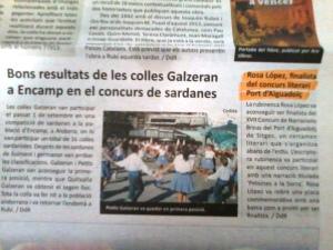 Diari de Rubí Juliol 2012 Rosa López finalista del concurs literari Port d'Aiguadolç, Sitges