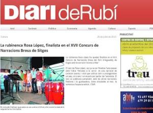 La Rubinenca Rosa López,  finalista en el XVII Concurs de Narracions Breus de Sitges_DR_26_07_13