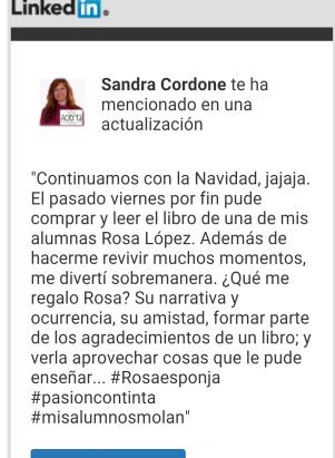 opinió Sandra a LinkedIn