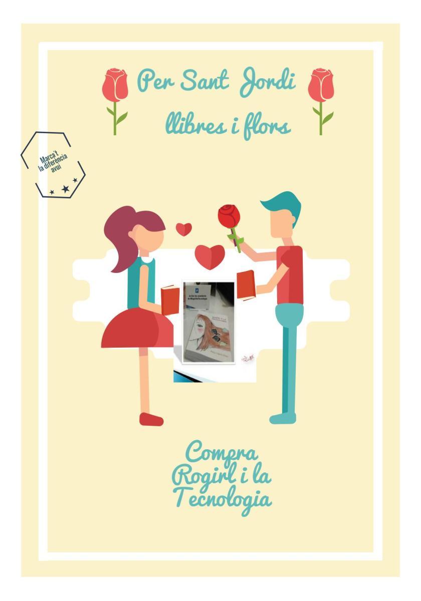 Per Sant Jordi, llibres i flors