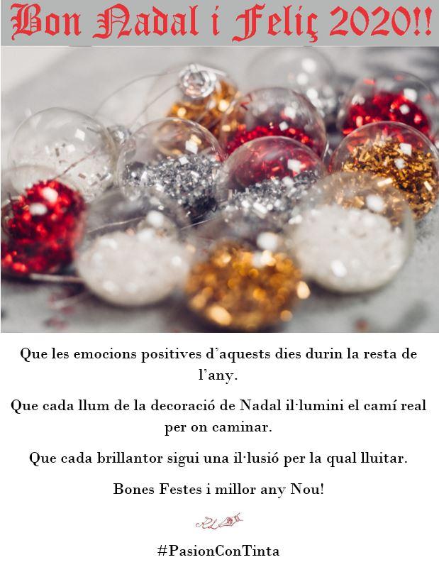 Bones Festes de Nadal i Feliç Any Nou 2020
